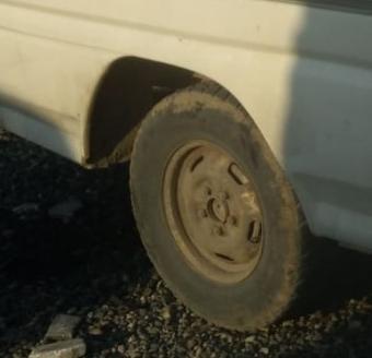 1996 model mitsubishi l300 çıkma sağ arka jant lastik